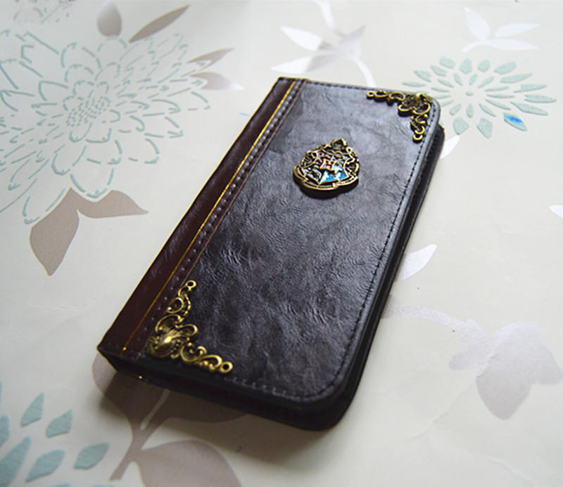 wholesale dealer 0a0a9 43959 New Iphone 6S Plus Case With Harry Potter Hogwarts Crest Leather Vintage  Personalized Magic Book Wallet