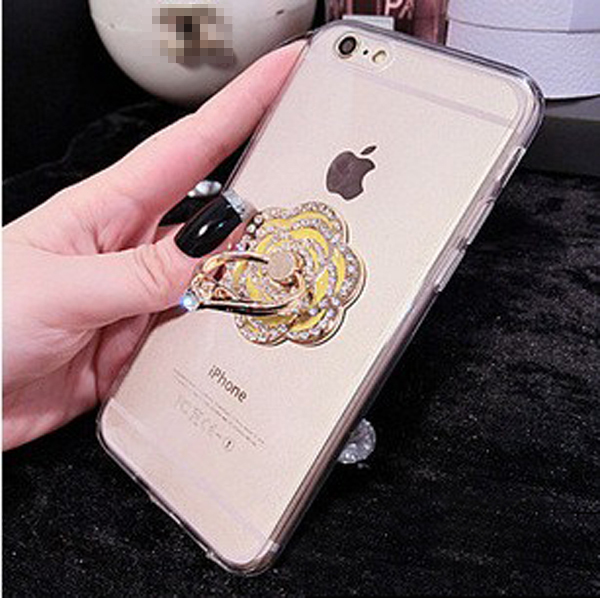 on sale 1432b c7030 TPU Transparent Silicone Metal Stents Iphone6s / Iphone6s Plus Cover,  Flower Ring Stent Soft Case,Iphone 5 5s Case , Iphone 6 Case, Iphone 6 Plus  ...