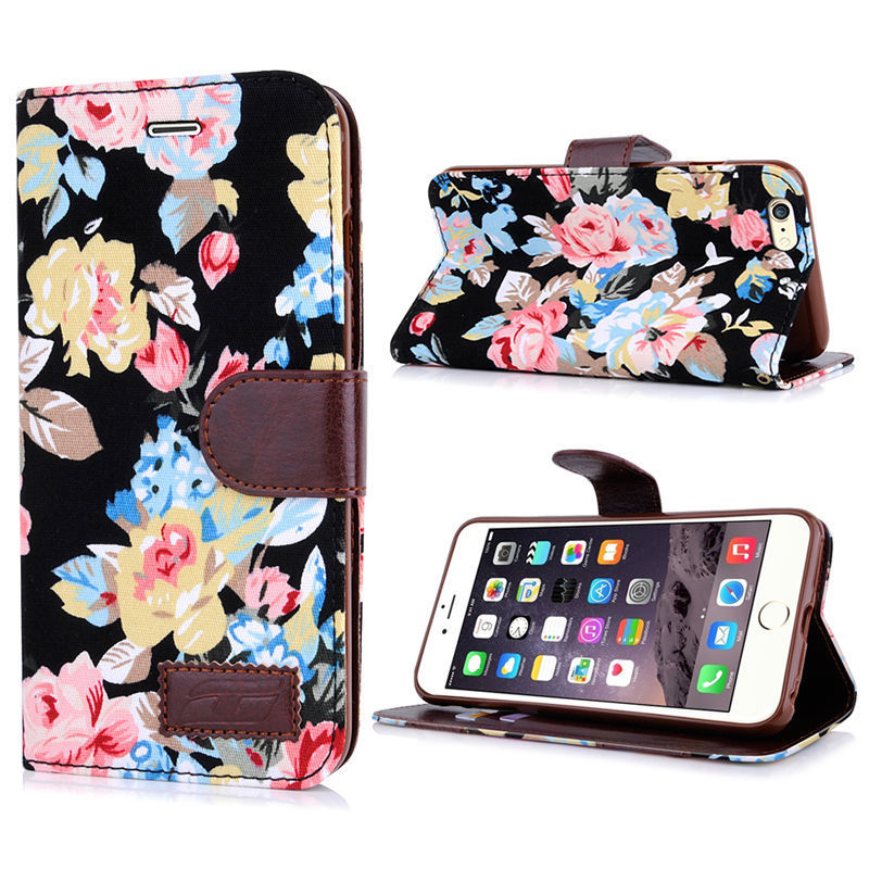 newest 05a2e 5f5c1 Iphone 6 Wallet Case,iphone 6s Wallet Case,iphone 6 Plus Case Wallet,iphone  6S Plus Floral Cloth Wallet Case,